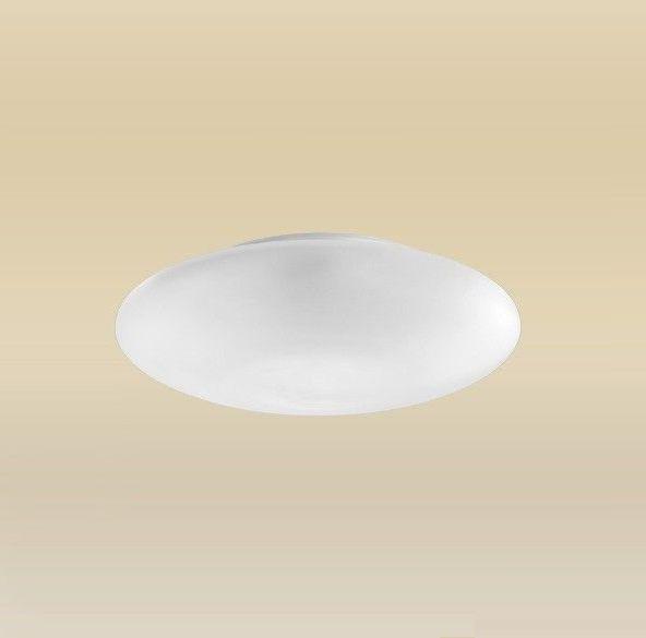 Plafon Redondo Branco Sobrepor Vidro Leitoso Fosco Ø30 Ambience Madelustre 2089.64.9B Quartos e Salas