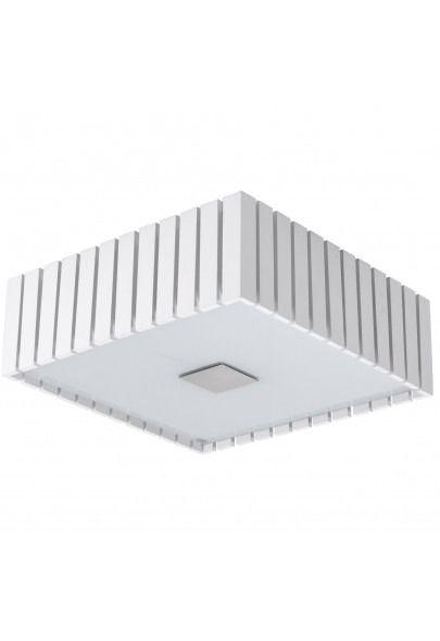 Plafon Quadrado Rústico Branco Madeira Maciça Sobrepor 53x53 Castor Madelustre 2562-BR Quartos e Corredores