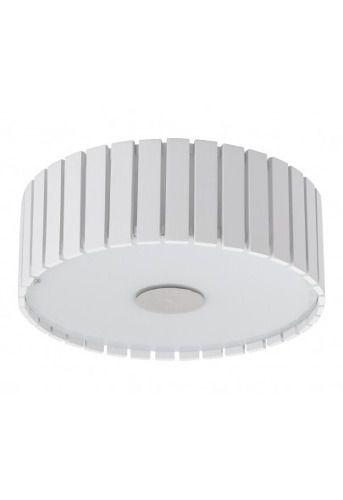 Plafon Redondo Sobrepor Luminária Branco Madeira Maciça 34cm Sala Quarto Cozinha Madelustre 2557-BR