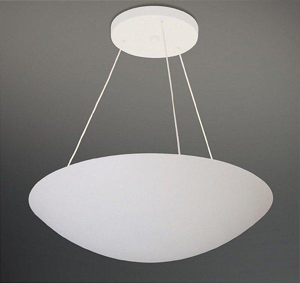 Pendente Redondo Curvo Alumínio Branco Cabo Regulável 40cmx1m Eclipse Usina Design G9 235/40 Salas e Hall