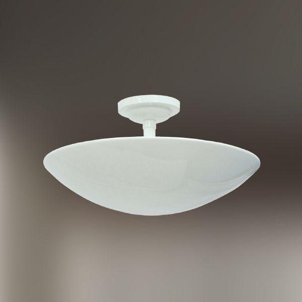 Plafon Sobrepor Oval Branco Alumínio Ø35 Golden Art E-27 T289-35 Salas e Cozinhas