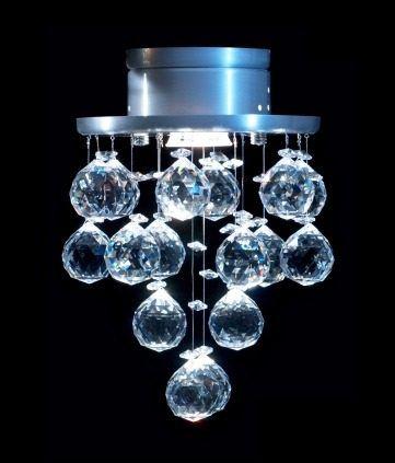Lustre Spot Plafon Redondo Cristal Legítimo Ø18 Sala Salão Estar Comercial Quarto Rd-001 DNA