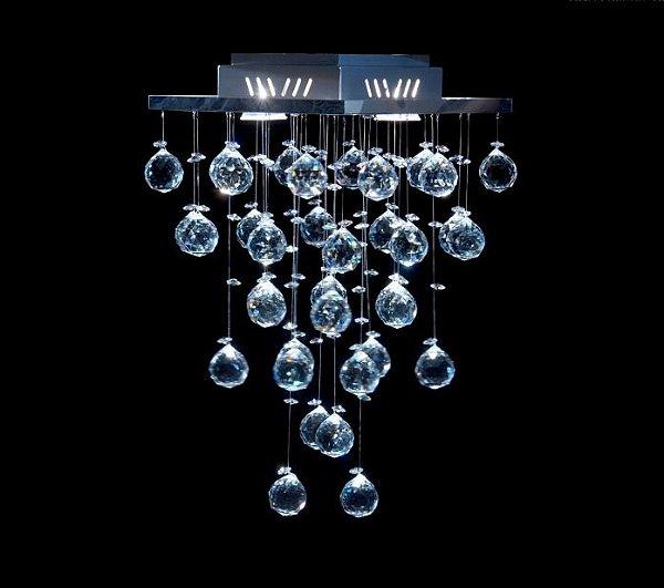 Plafon Quadrado Inox Cristal Transparente Asfour Intercalado 27x27 Qu-002 DNA Salas e Escritórios