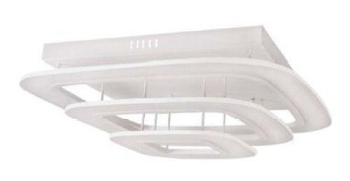 Plafon Quadrado Sobrepor Metal Branco Fosco 65x65 InModuli Luciin Led Zg201 Quartos e Cozinhas