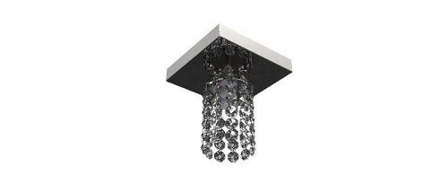 Spot Plafon Inox Cristal Legítimo 12x12 Luminária Sala Salão Estar Comercial Quarto Pf-813/1 New