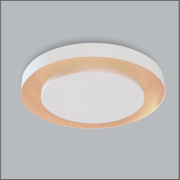 Plafon Sobrepor Redondo Branco Sofisticado Luz Indireta Ø50 Eclipse Usina Design G9 248/5 Salas e Cozinhas