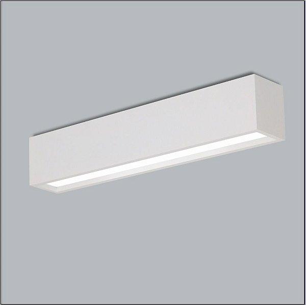 Plafon Retangular Alumínio Fosco Acrílico 12x128 Tropical Usina Design T8 4005/125f Salas e Quartos