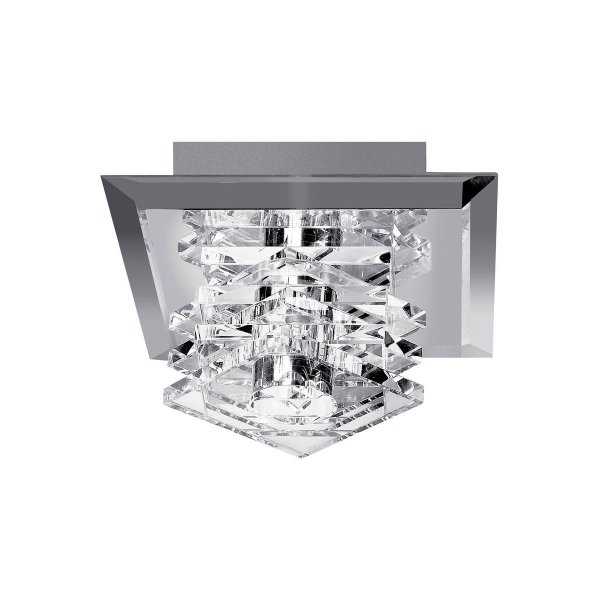 Luminária Plafon Cristal Teto Quarto Closet Corredor Decorativo Moderno Zg095 Luciin