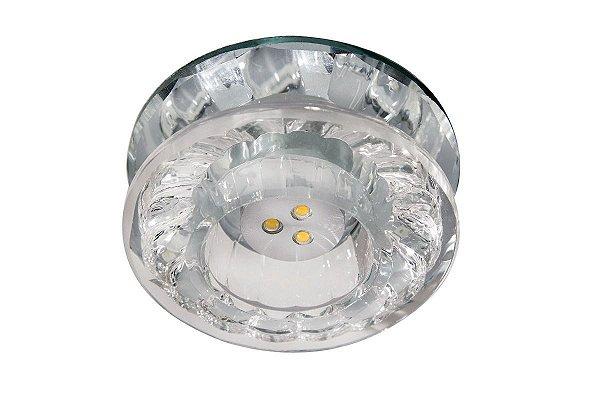 Spot Embutido Cristal Legítimo Transparente Power Teto Sala Hall Loja Comercial Zg216 Luciin