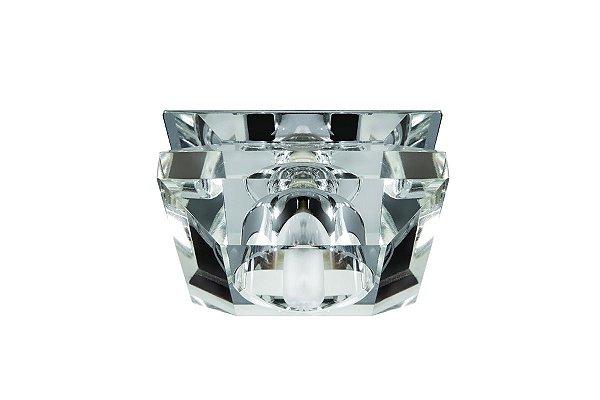 Spot Embutido Cristal Legítimo Sofisticado Sala Sanca Closet Decorativo Zg224 Luciin