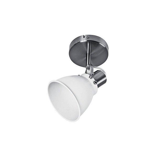 Spot Simples Inmilano Escovado Branco Sala Quarto Moderno Cf097/3 Luciin