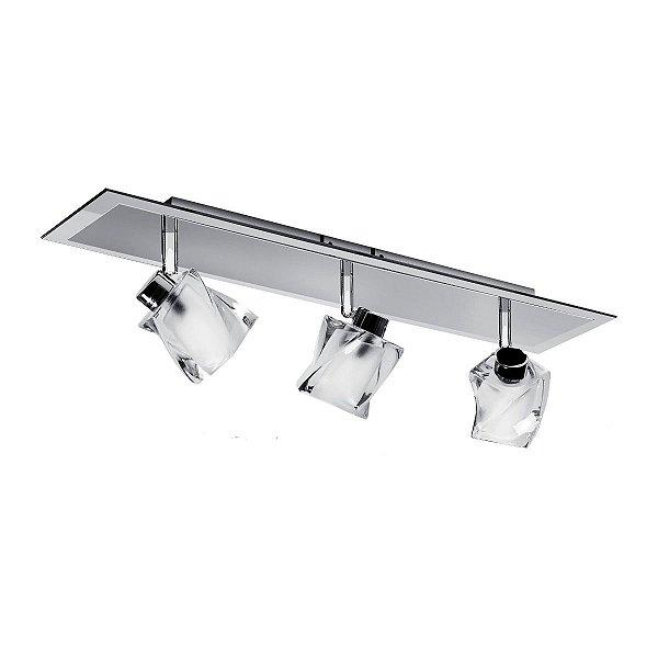 Spot Trilho Inbarletta Vidro Cristal Sala Quarto Decorativo Loja Je061 Luciin