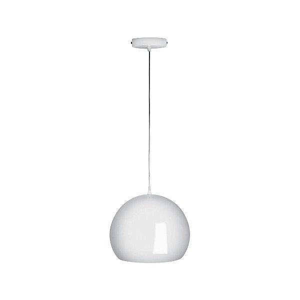 Pendente Vertical Alumínio Esfera Branco Decorativo 28x25 Inforli Luciin E-27 Cf036/3 Entradas e Salas