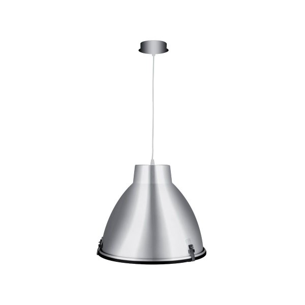 Luminária Pendente Vertical Cone Alumínio Decorativo 43x38 InMilano G Luciin E-27 Cf049/1 Entradas e Salas