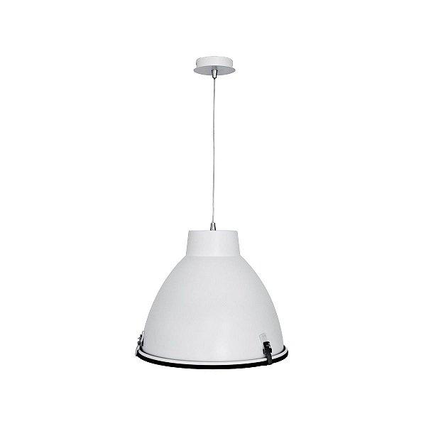 Pendente Vertical Cônico Alumínio Branco Decorativo 43x38 InMilano G Luciin E-27 Cf049/3 Quartos e Salas