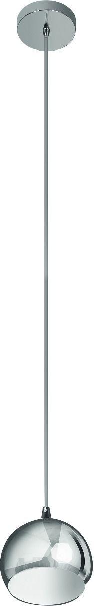 Pendente Vertical Alumínio Cromado Esfera Tom Dixon 12x10 InForli P Luciin G9 Cf054/1 Quartos e Hall