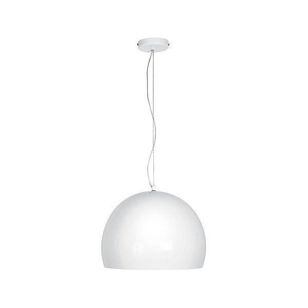 Pendente Vertical Esfera Alumínio Branco Decorativo 40x30 InForli Luciin E-27 Cf062/3 Salas e Hall