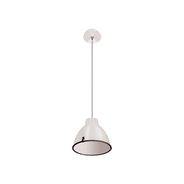 Pendente Alumínio Branco Decorativo Central 19x21 InMilano M Luciin E-27 Cf088/1 Cozinhas e Quartos