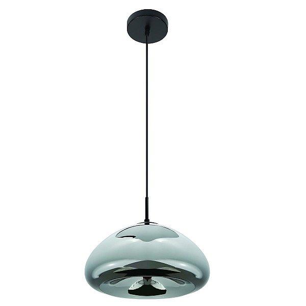 Pendente Vertical Redondo Vazio Prata Decorativo Tom Dixon 30x16 InSangiovese Luciin E-27 Fr005/1 Entradas e Salas