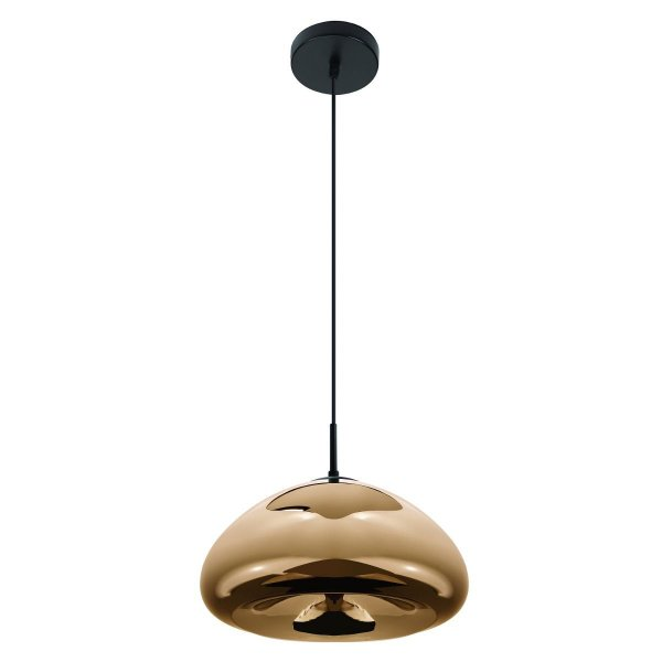 Pendente Vertical Redondo Vazio Dourado Decorativo Tom Dixon 30x16 InSangiovese Luciin E-27 Fr005/13 Quartos e Salas