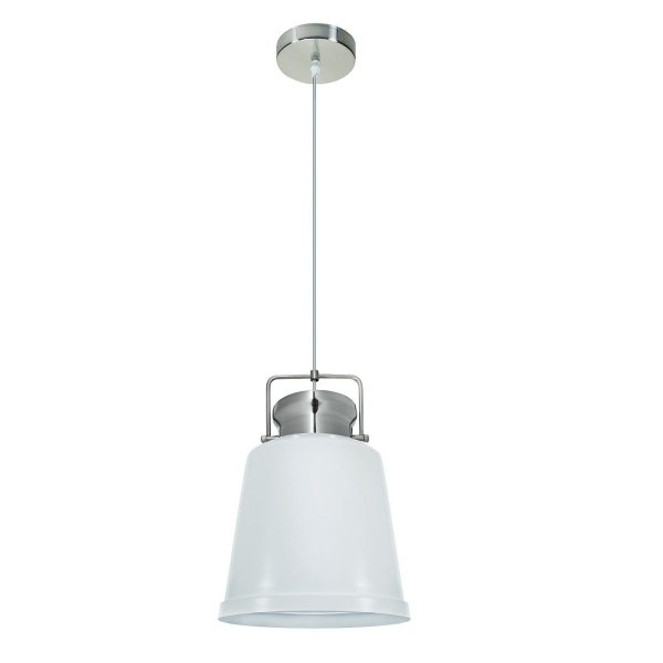 Pendente Vertical Redondo Alumínio Branco Decorativo 26x40 InRaffinato Luciin E-27 Hn009/3 Cozinhas e Quartos