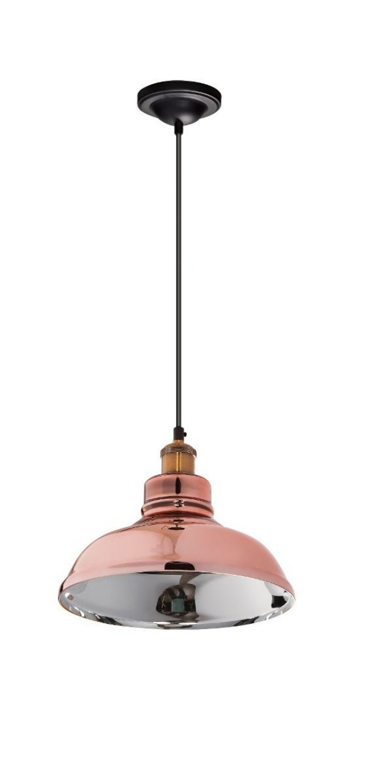 Pendente Vertical Decorativo Cobre Rose Interior Prata Tom Dixon 28x28 InZuppiera Luciin E-27 Zg173/24 Cozinhas e Salas