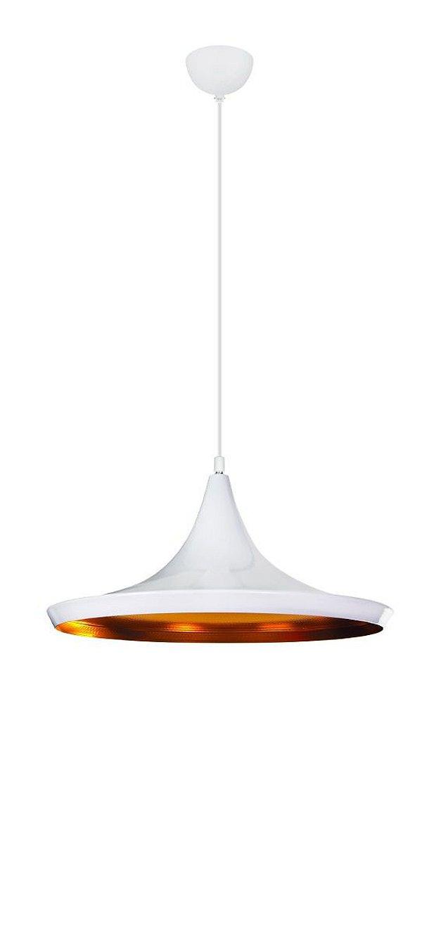 Pendente Vertical Disco Alumínio Branco Decorativo Tom Dixon 36x16 InDisco Luciin E-27 Zg233/3 Cozinhas e Quartos