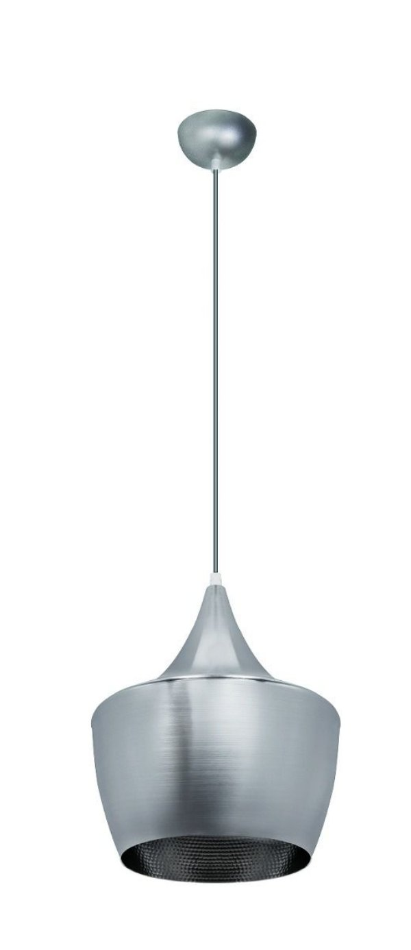 Pendente Vertical Alumínio Prata Redondo Tom Dixon 30x25 InGoccia Luciin E-27 Zg235/1 Cozinhas e Salas