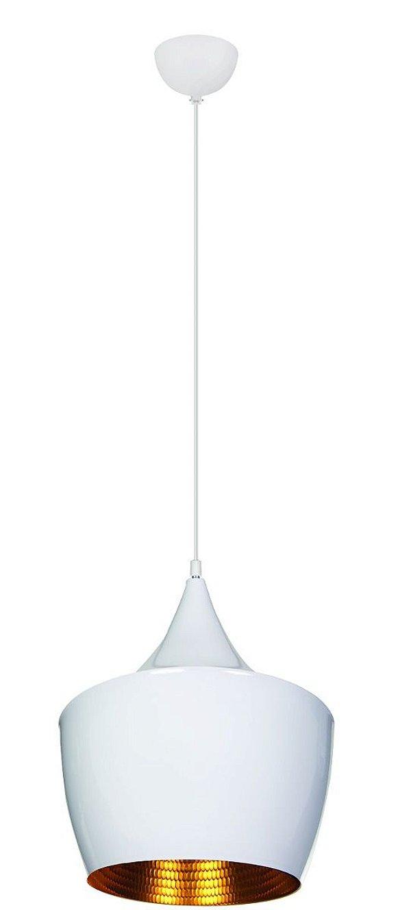 Pendente Vertical Alumínio Branco Decorativo Tom Dixon 30x25 InGoccia Luciin E-27 Zg235/3 Cozinhas e Entradas