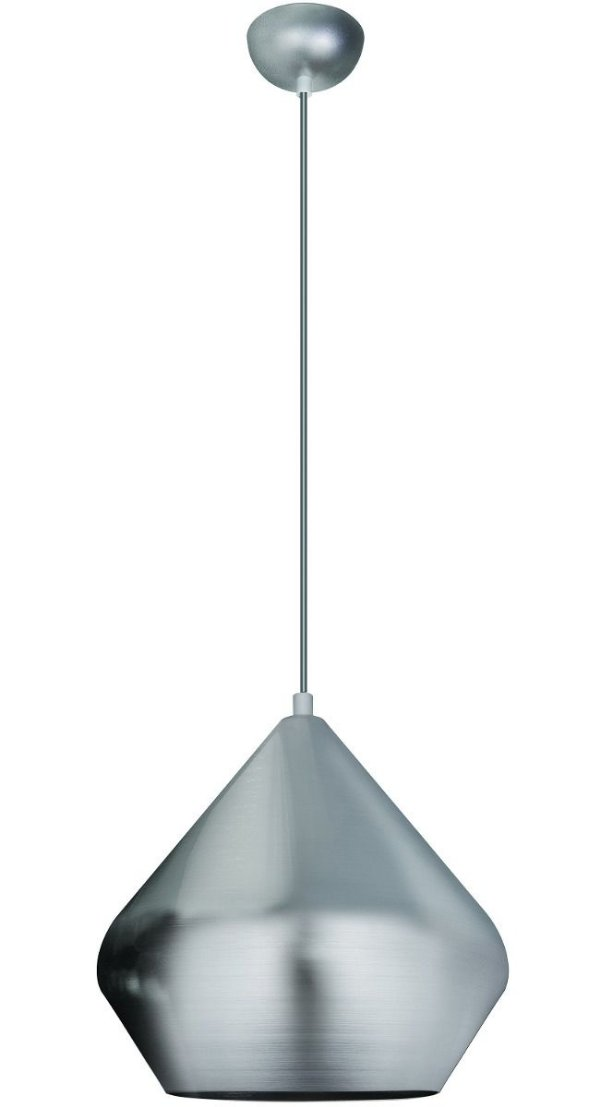Pendente Vertical Decorativo Alumínio Escovado Tom Dixon 28x28 InPallocino Luciin E-27 Zg236/1 Quartos e Hall
