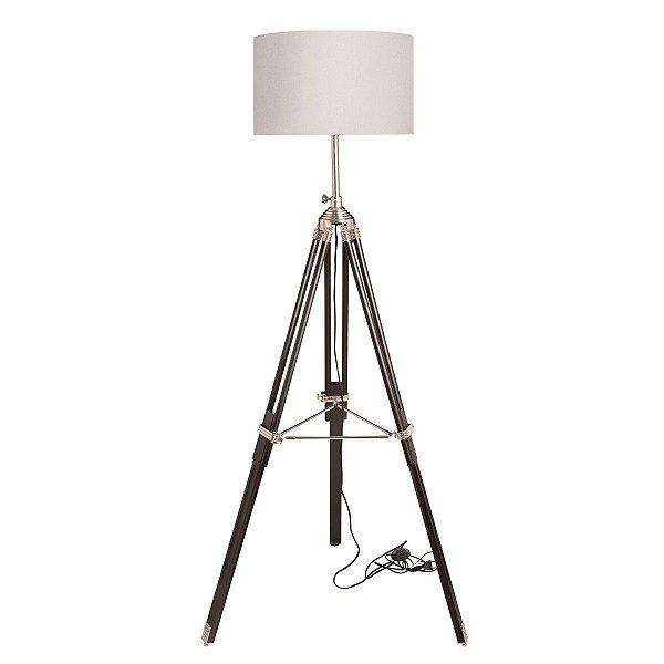 Luminária Abajur Inperfetto Piso Tripé Sofisticado Branco Decorativo Sala Quarto Cf084/3 Luciin