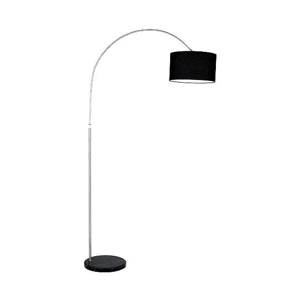 Luminaria Incalabria Abajur Coluna Preto Tecido Sala Escritório Decorativo Cf106/2 Luciin