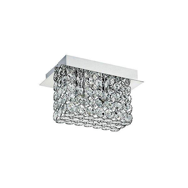 Arandela Interna Retangular Cristal K9 Transparente 18x8 Più InAlveare Luciin G9 Cf111 Banheiros e Quartos