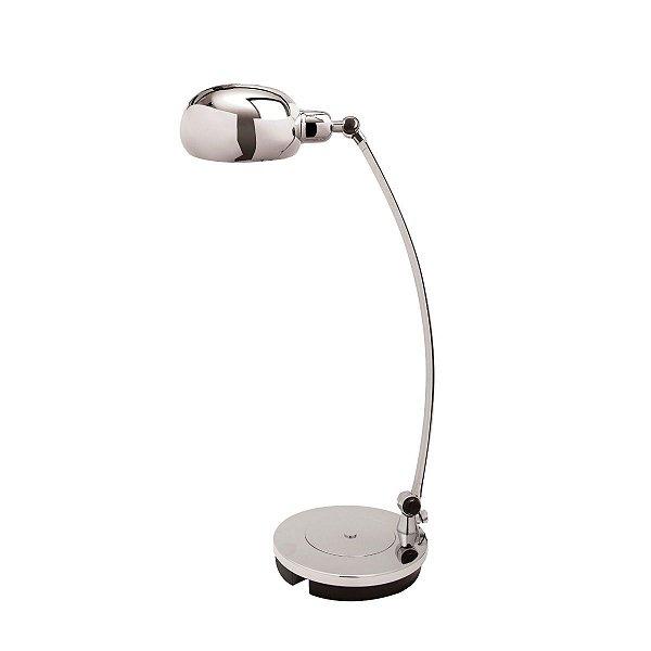 Abajur Luminária de Mesa Metal Regulável Bivolt 56cm de Altura Infinestra Luciin E-27 Cf067/1 Cabeceiras e Escritórios
