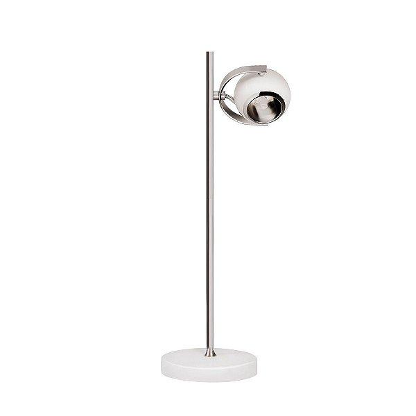 Abajur Luminária de Mesa Moderno Bivolt 48cm de Altura Contemporanea Inromeo Luciin G9 Cf116/3 Escritórios e Quartos
