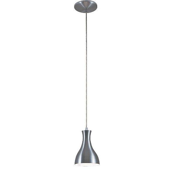 Pendente Mix Metal Vertical Sino Alumínio Lixado Bivolt Ø10cm E-27 Eletrônica Munclair 4512-1 Cozinhas e Salas