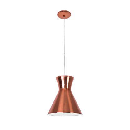 Pendente Mega Luz Vertical Cobre Rose Gold Bivolt Ø27cm E-27 Eletrônica Munclair 4554 Cozinhas e Hall