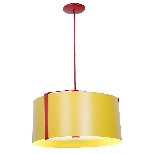 Pendente Redondo Cinta Colorido Bivolt Industrial Ø45cm E-27 Eletrônica Munclair 4571 Cozinhas e Salas