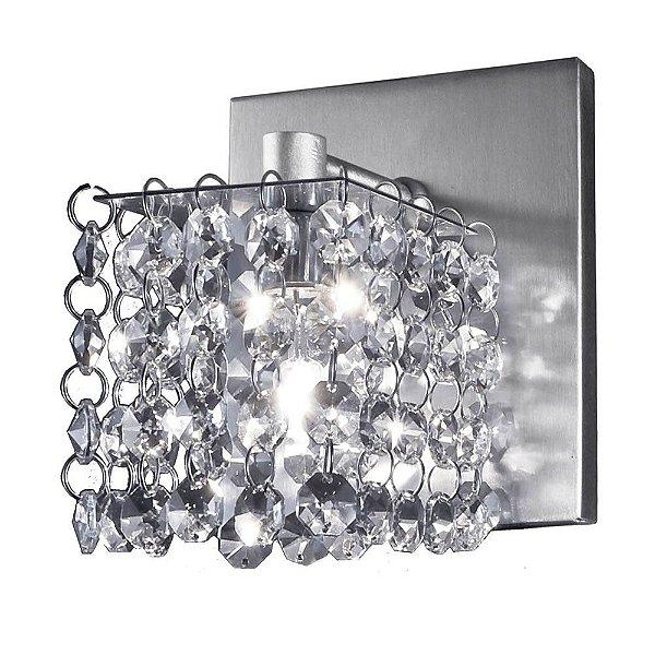 Arandela Box Cristal Asfour Egípcio Transparente Bivolt 12x12cm G9 Halopin Munclair 2267 Corredores e Salas