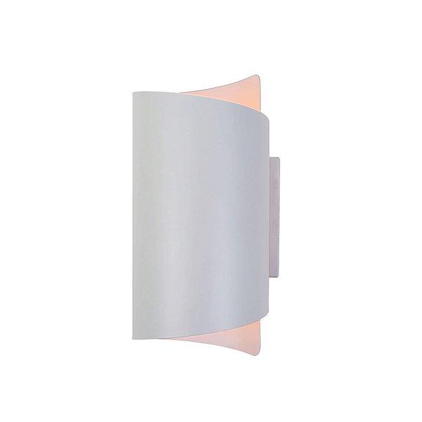 Arandela Calandra Tubular Branca Alumínio Pintado Bivolt 13x30cm G9 Halopin Munclair 2336 Corredores e Quartos