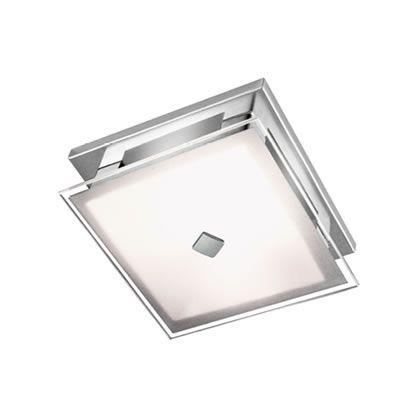Plafon Reflexos Quadrado Vidro Plano Temperado 4mm Bivolt 15x15cm G9 Halopin Munclair 3241 Corredores e Salas