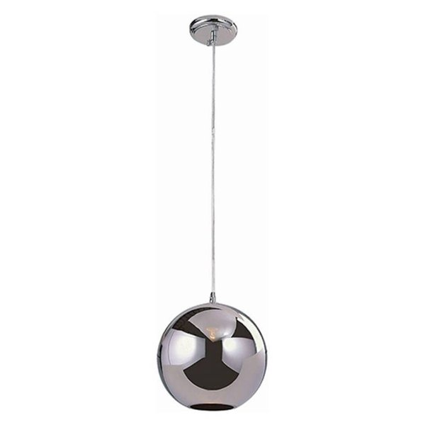 Pendente Decorativo Esfera Vidro Cromado Translúcido Artesanal Bivolt Ø40cm Bulbo Stella SD8140 Corredores e Salas