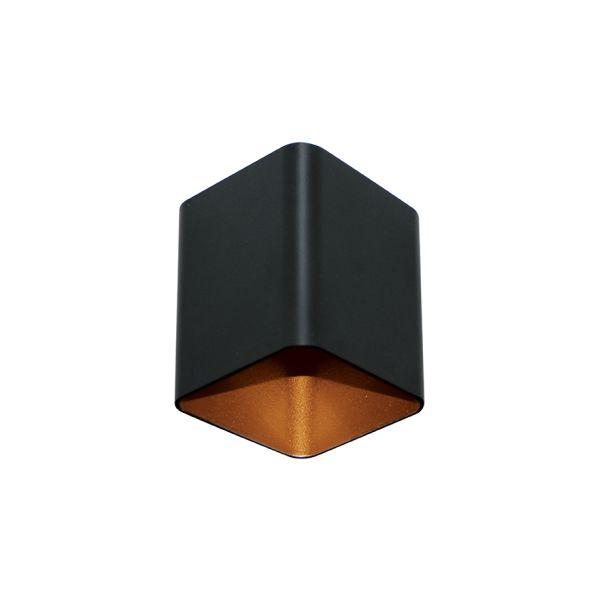 Spot Semi-embutido Box Frank Preto com Cobre Bivolt 8x10cm GU10 Dicróica Stella SD5004 Escritórios e Salas