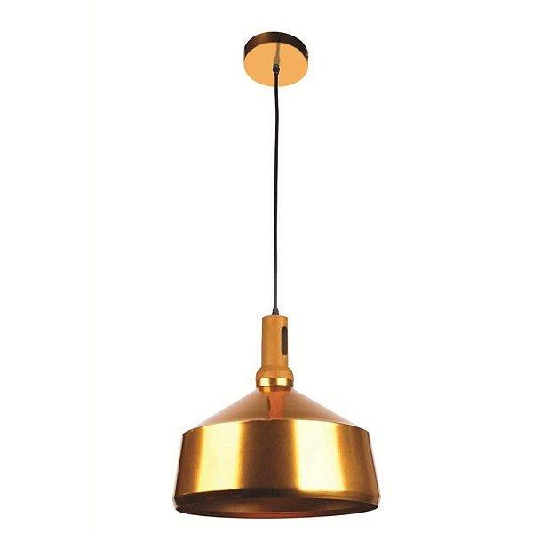 Pendente Dourado Metal e Aluminío Ø36CM 1 lampada Bulbo Dakini Stella SD8542 Salas e Cozinhas