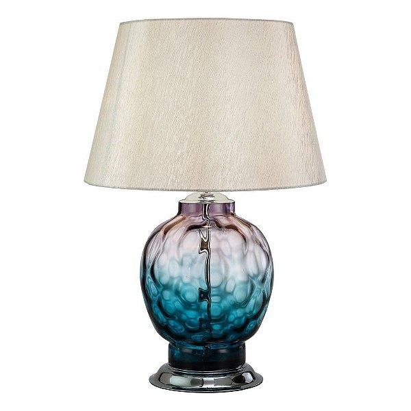 Abajur Bergamo Cristal Púrpura Cupula 74x50cm Mantra 1 E27 30110 Quartos e Salas