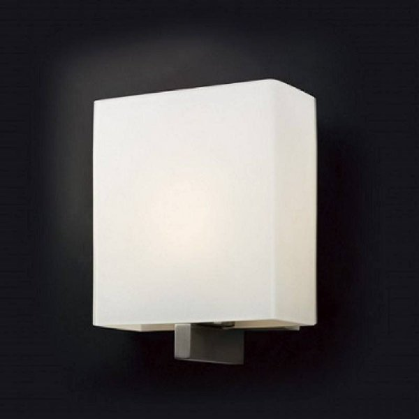 Arandela Snow Glass Quadrada Branca 23x18cm Mantra 1 E27 2553 Corredor Salas