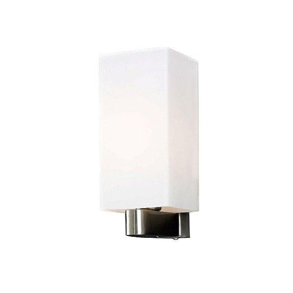 Arandela Snow Glass Quadrada Branca 22x9 Mantra 2554 Corredores e Salas
