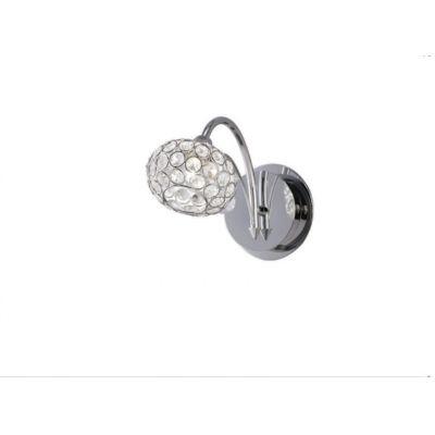 Arandela Clara Metal Prata 16x10cm Mantra 1 G9 Halopin 30030 Corredores e Salas