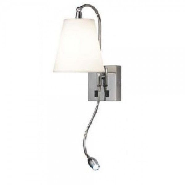 Arandela Blanch Metal Cúpula Branca 61x27cm Mantra 1 E27 30119 Quartos e Salas