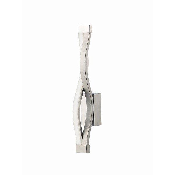 Arandela Sahara Metal Acrílico Branco Moderno 37x50cm Mantra 1 LED 6W 4863 Salas e Entradas